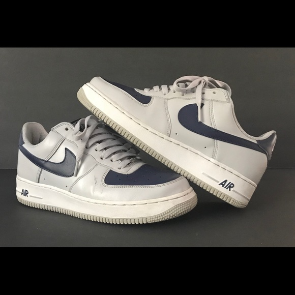 Nike Air Force 1 Grey Navy Size 9